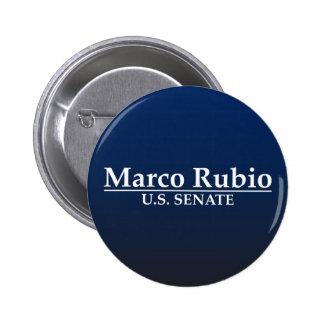 Marco Rubio para el senado de los E.E.U.U. Pin Redondo 5 Cm