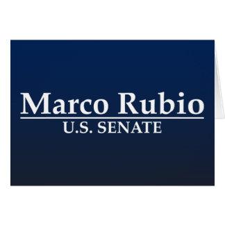 Marco Rubio para el senado de los E.E.U.U. Tarjeta De Felicitación