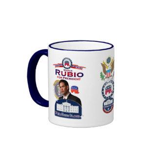 Marco Rubio para presidente Ringer Mug Taza A Dos Colores