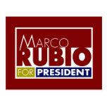 Marco Rubio para presidente V1 Tarjetas Postales