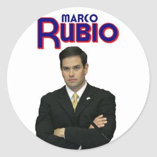 Marco Rubio Pegatina Redonda