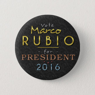 Marco Rubio President 2016 Gold Black Classy Button