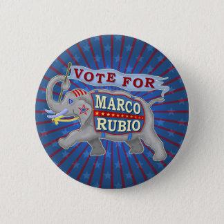 Marco Rubio President 2016 Republican Elephant Pinback Button