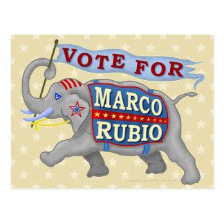 Marco Rubio President 2016 Republican Elephant Postcard