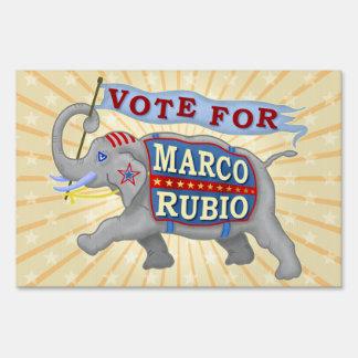 Marco Rubio President 2016 Republican Elephant Yard Sign