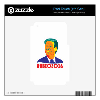 Marco Rubio President 2016 Republican Retro Decals For iPod Touch 4G