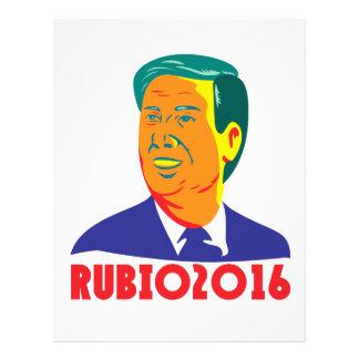 Marco Rubio President 2016 Republican Retro Letterhead