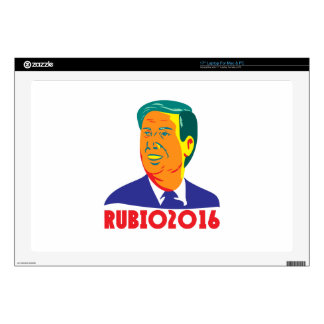 Marco Rubio President 2016 Republican Retro Skins For Laptops