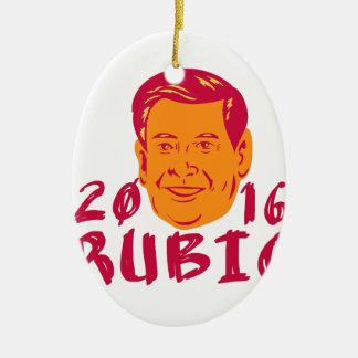 Marco Rubio President 2016 Retro Ceramic Ornament