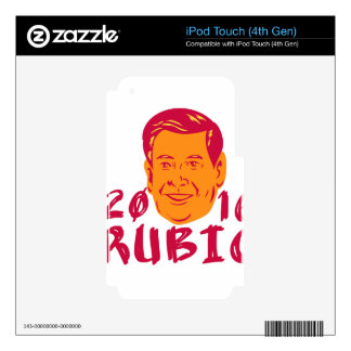 Marco Rubio President 2016 Retro Decal For iPod Touch 4G