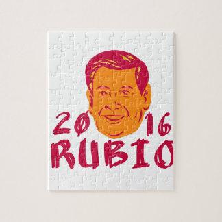 Marco Rubio President 2016 Retro Jigsaw Puzzle