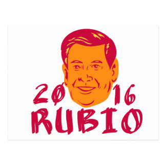 Marco Rubio President 2016 Retro Postcard