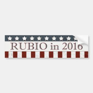 Marco Rubio President 2016 Stars and Stripes Bumper Sticker