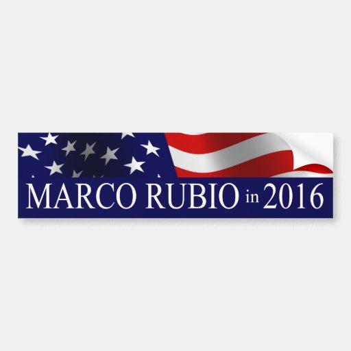 Marco Rubio President in 2016 Car Bumper Sticker
