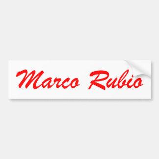 Marco Rubio (red and white) Car Bumper Sticker