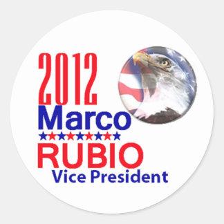 MARCO RUBIO VP ROUND STICKER
