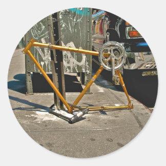 Marco-SOHO NYC de la bicicleta Etiquetas Redondas