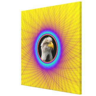 Marco tejido impresión de la lona en amarillo y lona envuelta para galerias