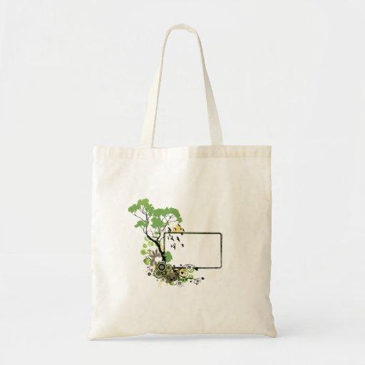 Marco un floral.png más simple del pájaro del árbo bolsa tela barata