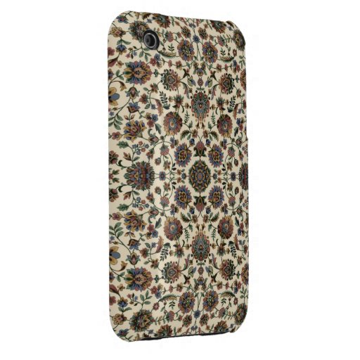 Marco verde del espiral de la tapicería de los iPhone 3 funda