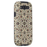 Marco verde del espiral de la tapicería de los Wil Samsung Galaxy S3 Protectores