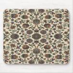 Marco verde del espiral de la tapicería de los Wil Tapete De Raton
