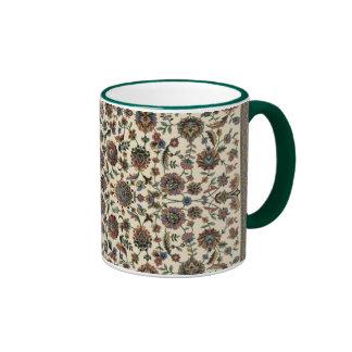 Marco verde del espiral de la tapicería de los Wil Tazas