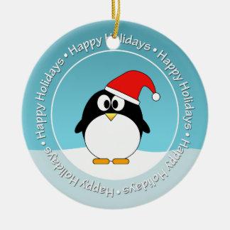 Marco Y pingüino de la foto DE DOBLE CARA Adorno De Reyes