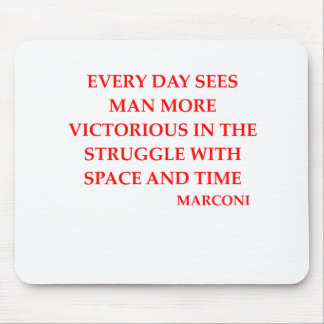 MARCONI quote Mouse Pad