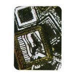 Marcos abstractos en aceituna imán
