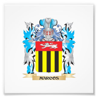 Marcos Coat of Arms - Family Crest Photographic Print