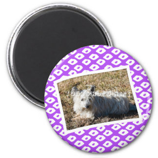 Marcos de la foto del Ocelot - púrpura Imán Redondo 5 Cm