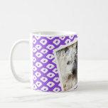 Marcos de la foto del Ocelot - púrpura Tazas De Café