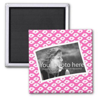 Marcos de la foto del Ocelot - rosa Imán Cuadrado