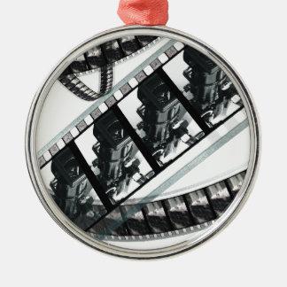 marcos de película de un carrete blanco y negro ornamento para reyes magos