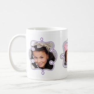 Marcos femeninos púrpuras de la lavanda de encargo taza clásica