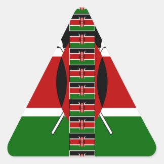 Marcos inconsútiles de la frontera de las banderas pegatina triangular