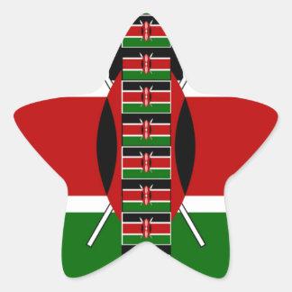 Marcos inconsútiles de la frontera de las banderas pegatina en forma de estrella