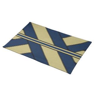 Marcos y rayas Placemat del azul y del oro Manteles