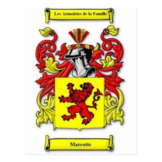 Marcotte Coat of Arms Postcard