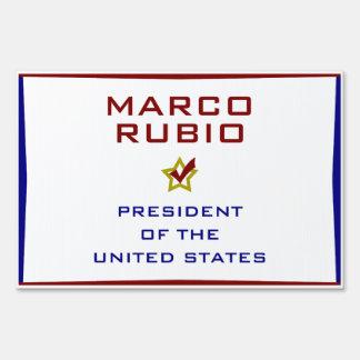 Marcp Rubio President USA V2 Yard Sign