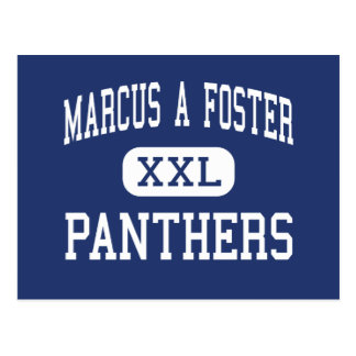 Marcus A Foster Panthers Middle Oakland Postcard