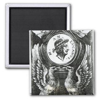 Marcus Annaeus Lucanus 2 Inch Square Magnet