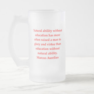 marcus aurelius frosted glass beer mug