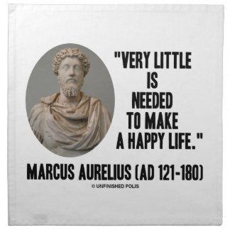 Marcus Aurelius Little Is Needed Make Happy Life Cloth Napkin