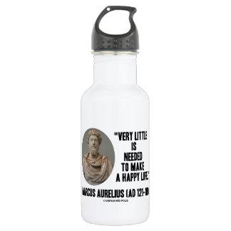 Marcus Aurelius Little Is Needed Make Happy Life 18oz Water Bottle