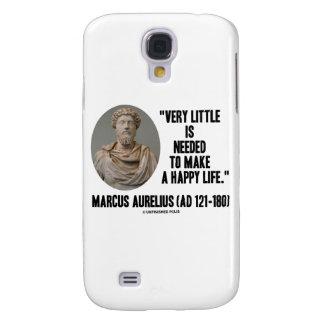 Marcus Aurelius Little Is Needed Make Happy Life Samsung Galaxy S4 Case