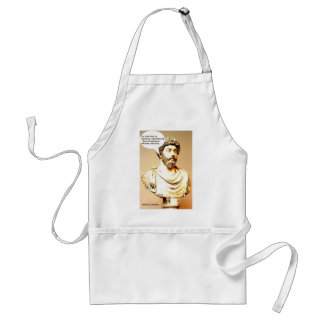 MARCUS AURELIUS quote - He who lives in harmony wi Adult Apron
