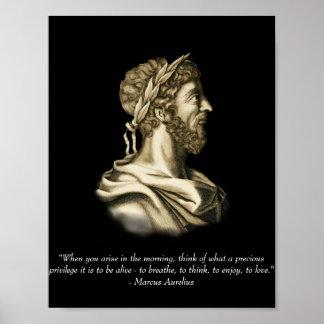 Marcus Aurelius Quote Poster
