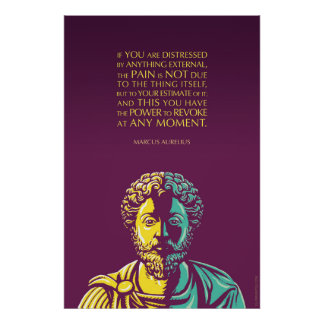 Marcus Aurelius quote: The Power to Revoke Poster